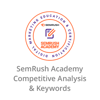 SemRush Academy Certificate in Competitive Analysis & Keywords