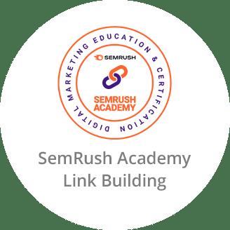SemRush Academy Certificate in Link Building