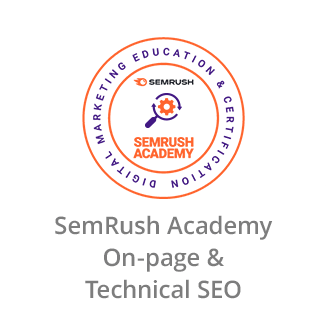 SemRush Academy Certificate in On-page & Technical SEO