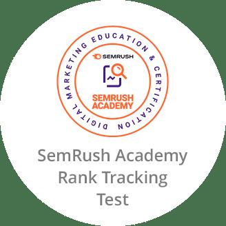 SemRush Academy Certificate in Rank Tracking Test