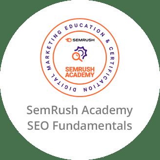 SemRush Academy Certificate in SEO Fundamentls